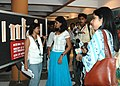 Noted actress Nandita Das interacting with the media at kala Academy during the ongoing 37th International Film Festival (IFFI-2006) in Panaji, Goa on November 28, 2006.jpg