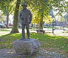 Vincent van goghmonument in het park