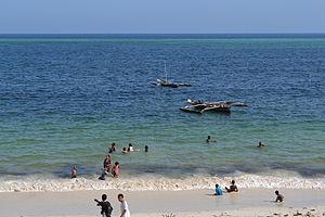 Nyali Beach from the Reef Hotel during high tide in Mombasa, Kenya 19.jpg