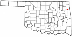 Location of Twin Oaks, Oklahoma