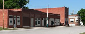 Oak, Nebraska - Downtown Oak: north side of Maple Street