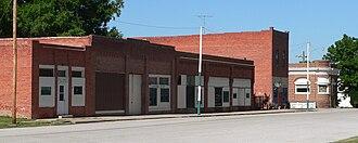 Oak, Nebraska - Downtown Oak: north side of Maple Street