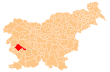 Location of the Municipality of Ajdovščina