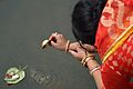 Offering to Goddess Ganga - Upanayana Ceremony - Simurali 2015-01-30 5334.JPG