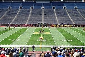 Michigan Wolverines men's lacrosse - Michigan in action against Ohio State in 2015
