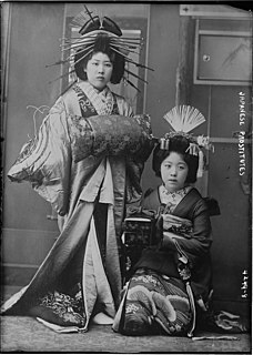 High-ranking courtesan in Japan, whose occupation arose in the Edo period and was largely replaced by geisha by the late 19th century