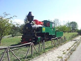 Greek industrial railways - A preserved meter gauge steam locomotive from a PPC mining railway