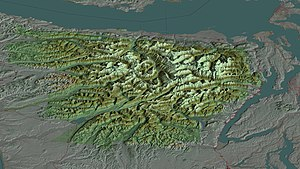 Olympic National Park - A 3D computer generated aerial view