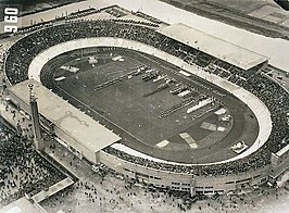 Olympic Stadium in 1928 waar de start en finish plaatsvond