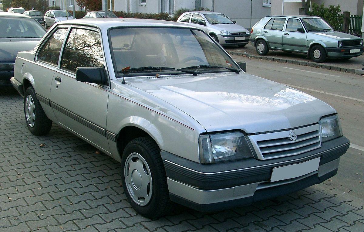 Opel Ascona Wikipedia 2001 Chevrolet S 10 2200 Fuse Box Diagram