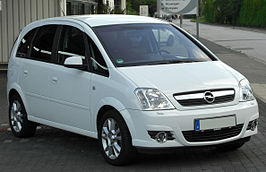Opel Meriva A 1.8 Cosmo Facelift front 20100716.jpg