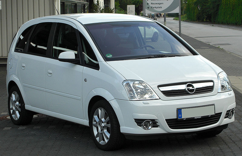 file opel meriva a 1 8 cosmo facelift front wikimedia commons. Black Bedroom Furniture Sets. Home Design Ideas