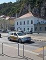 Opel auxiliary police car and Rudas Baths, 2019 Tabán.jpg
