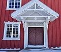 Oppdal manse (prestegard), Gauldal deanery (prosti), Trøndelag, Norway. Raulåna, entrance, door 1747 inscription. 2019-03-19 C.jpg