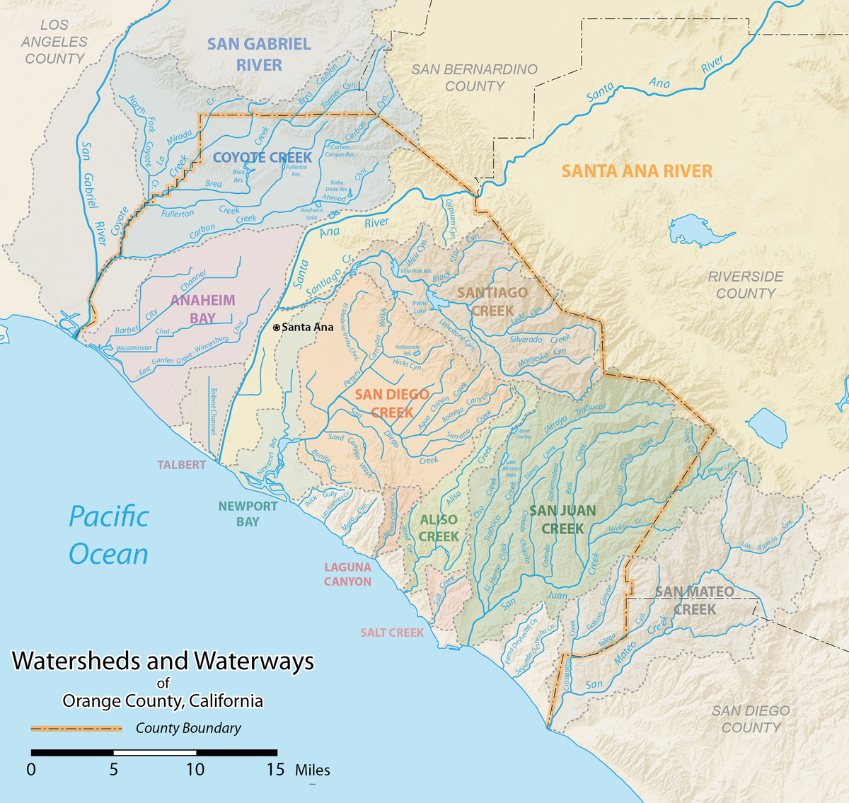List Of Rivers Of Orange County California Wikipedia