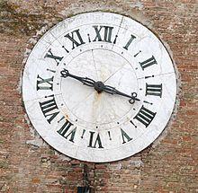 Orologio con la sola lancetta delle ore, 1643[2]