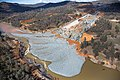 Oroville Dam spillway debris in Feather River 27 February 2017.jpg
