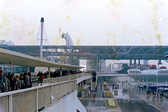 Expo '70 - Space frame roof of the Festival Plaza, Osaka Expo, 1970