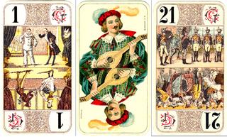 Tarot Nouveau tarot card deck used in France
