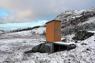 Outhouse - Outhouse in the mountains in northern Norway