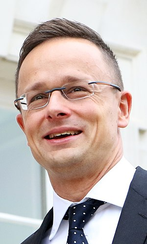 Péter Szijjártó - Hungarian Minister of Foreign Affairs and Trade (44613275674) (cropped).jpg