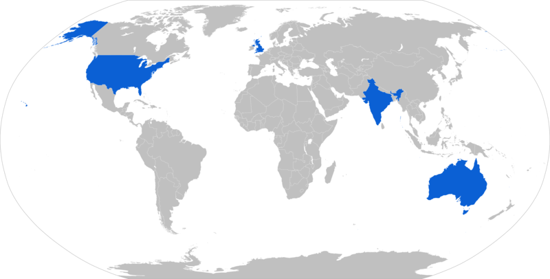 Map with P-8 operators in blue