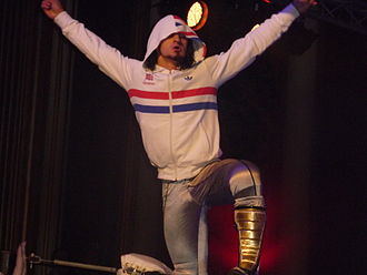 Neville (wrestler) - PAC posing during an appearance for Dragon Gate in 2009