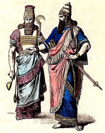 Costumes of an Assyrian High Priest (left) and a King (right). PLATE2AX.jpg