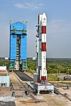 PSLV C43 HySIS launch campaign. Polar Satellite Launch Vehicle on First Launch Pad 02.jpg