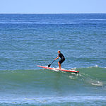 Paddle surfing 2 2007.jpg