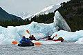 Paddling around icebergs at Spencer Glacier. Chugach National Forest, Alaska (27292187843).jpg
