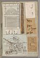 Page from a Scrapbook containing Drawings and Several Prints of Architecture, Interiors, Furniture and Other Objects MET DP372098.jpg
