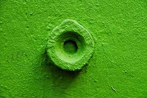 Painted Benchmark on Wall, Passage Hébrard, Paris.JPG