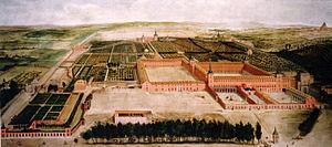 Buen Retiro Palace - Buen Retiro Palace in 1637 — painting attributed to Jusepe Leonardo