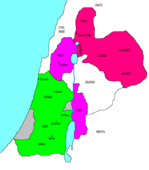 Herodian Tetrarchy - Image: Palestina na Herodes
