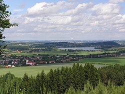 The village of Palkovice and Olešná Dam