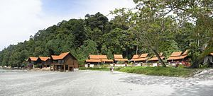Pangkor Island Beach Resort with traditional M...