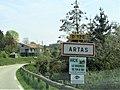 Panneau routier d'entrée d'Artas.jpg