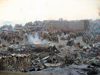 Crimean War - Detail of Franz Roubaud's panoramic painting The Siege of Sevastopol (1904)