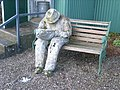 Paper Mache sculpture of person reading a book - geograph.org.uk - 677744.jpg