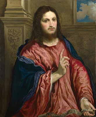 Paris Bordone - Image: Paris Bordone Christ as 'The Light of the World' Google Art Project