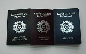 Paraguayan passport - Diplomatic, official and consular passports