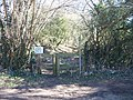 Path meets road - geograph.org.uk - 1801788.jpg