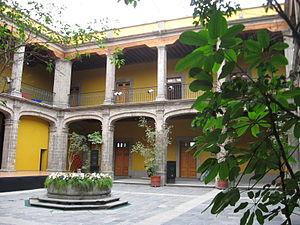 Museo de la Secretaría de Hacienda y Crédito Público - Interior patio of the SHCP Museum.