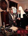 Patriarch Kirill and Svetlana Medvedeva Kronstadt 2011.jpeg