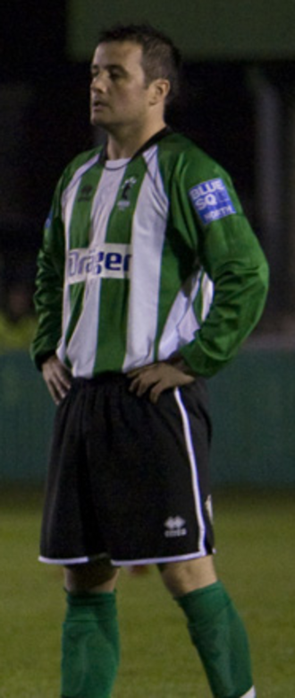 Paul Brayson - Brayson playing for Blyth Spartans