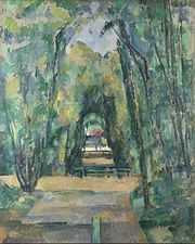 Paul Cézanne - Allée à Chantilly, 1888 (National Gallery, London).jpg