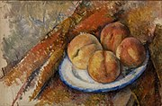 Paul Cézanne - Four Peaches on a Plate (Quatre pêches sur une assiette) - BF21 - Barnes Foundation.jpg