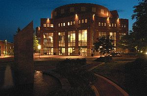 Peace Center at Night, Greenville, South Carol...