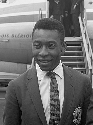 Pelé - Pelé with Santos in the Netherlands, October 1962